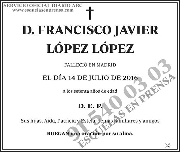 Francisco Javier López López